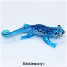 Handmade Lampwork art Glass animal figurine sculpture lizard