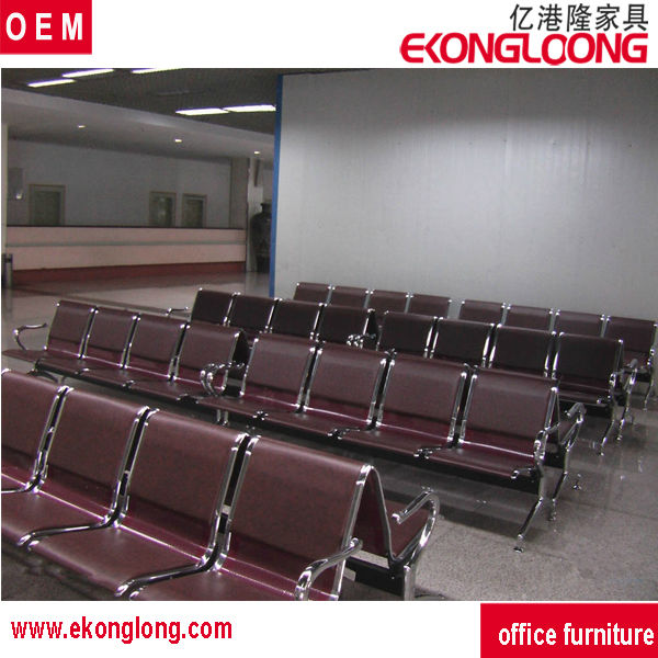 leather round waiting chairs/die cast airport set