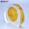 Factory direct sale metal and crystal glass award medal
