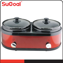 2-IN-1 Round Twins Slow Cooker for sale