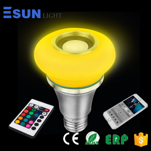 Low cost new designed shape magic WIFI/Bluetooth controlled LED bulb remotely control by phone