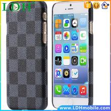 10pcs/lot Via HK Post European Plaid Leather Case For iphone 6 6S 4.7 Cell Phone Back Cases Cover For iphone 6 Plus 5.5