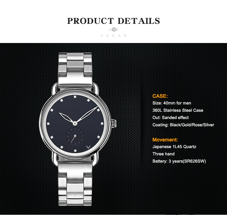 2019 Luxury 은 316L Stainless Steel Japan Quartz Movement Men Watch