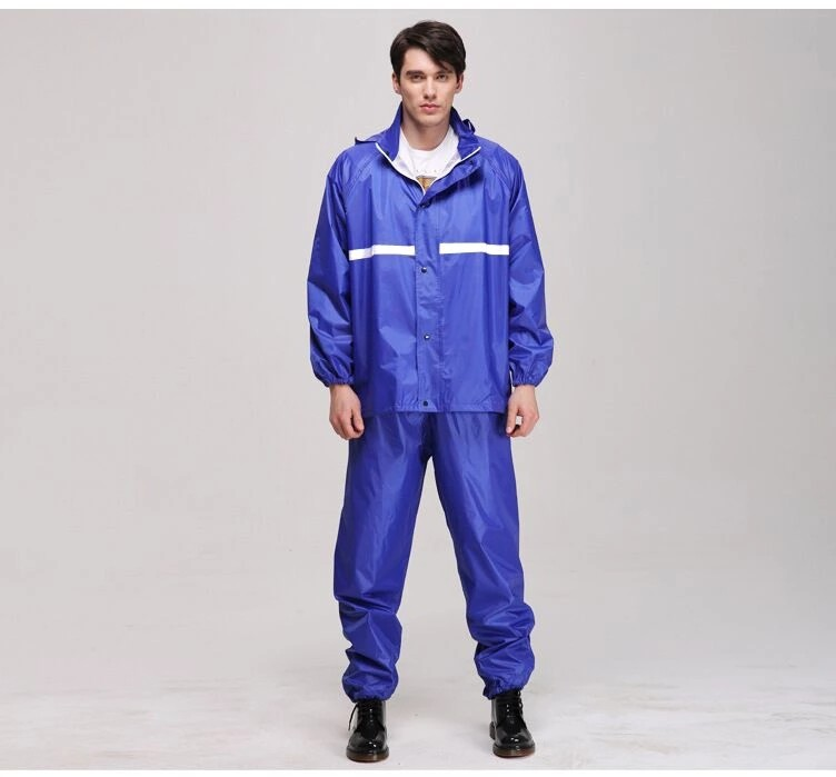 high quality factory produce of men raincoat raincaot suit by polyester +pvc