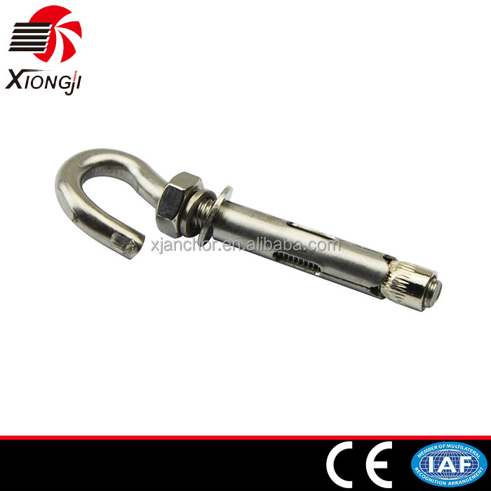 02-04 stainless steel chemical hook bolt sleeve anchor