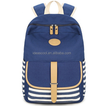 Canvas Backpack School Bag Super Cute Stripe School College Laptop Bag for Teens Girls Boys Students