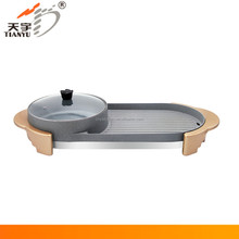 japanese table top barbecue grill plate and hot pot