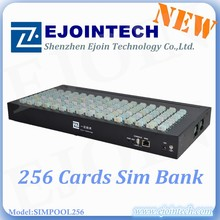 Ejoin new product sim pool/box 256 sims 96 ports fxs voip gateway 32 ports voip gsm gateway with EBO/SBO