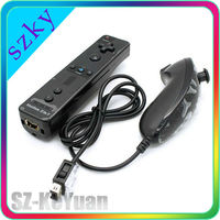 Hot Saleing 2 in 1 Motion Plus Built in Remote & Nunchuck Controller for Wii