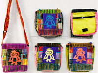 Wholesale Nepal Peace Sign Owl Tie Dye Bags Sling Purses Fabric Bags
