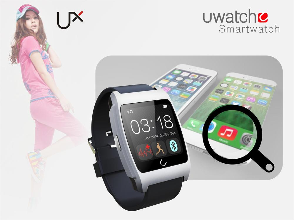 wholesale for 1.44 inch TFT MTK2501 RAM 32MB Bluetooth health Uwatch UX Wrist Watch Mobile Phone