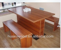 HX-MZ136 Noshery table with bench; canteen wooden table