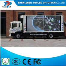 Outdoor led TV display popular mobile trailer advertising outdoor p6 full color truck led display screen