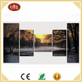 home decor landscape canvas picture digital photo canvas prints 5 panel