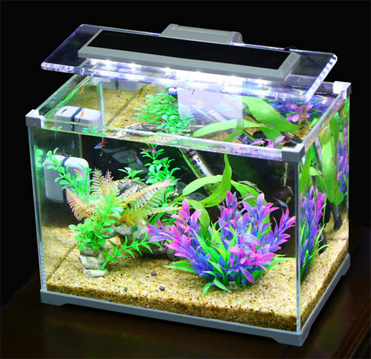 Aquarium SUNSUN low iron glass cube garden mini fish tank fish aquarium office table