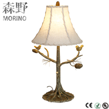 American rural Wrought study retro iron modern table lamp living room bedroom bedside Creative industrial table lamps