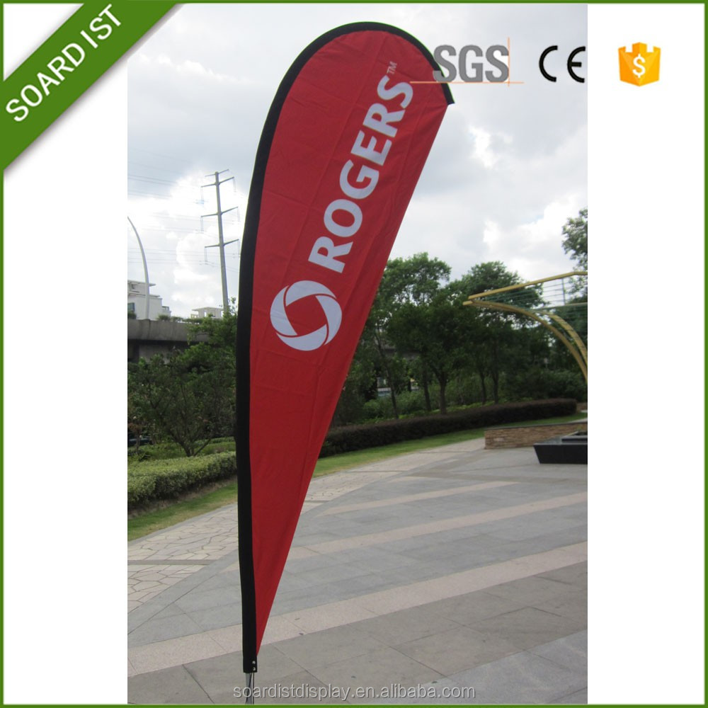 Full color printing Promotional Tear Drop Event Flags for Marketing