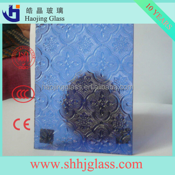 Supply high quality Glue chip figured glass with CCC/CE Certificate