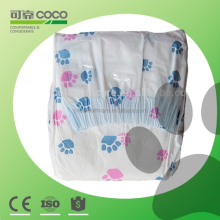 Hot Sale Pet Product Private Label Printed Baby Dog Diaper with Colorful Poly Bag