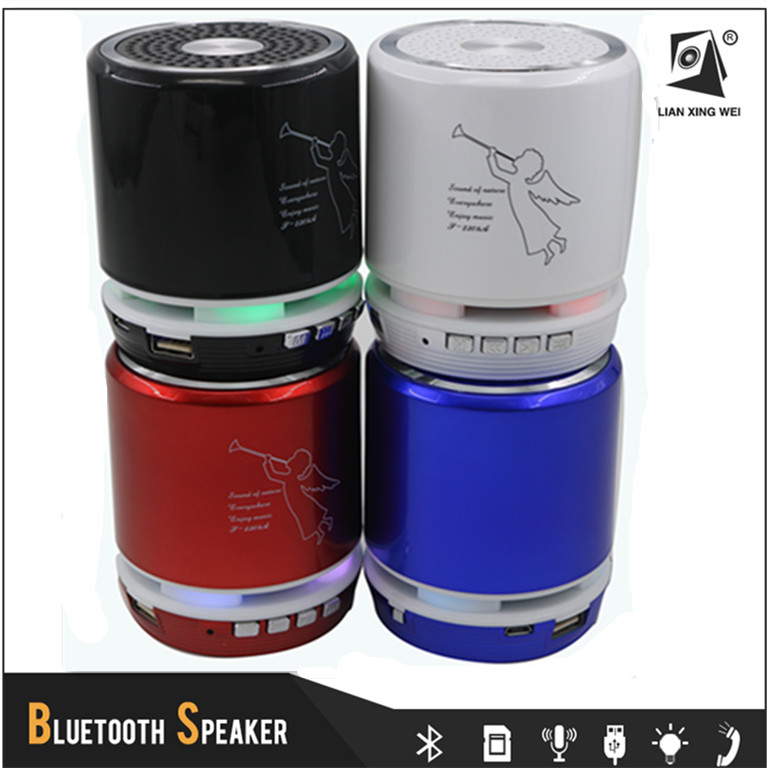 5w Portable Mini Wireless Headphone Bluetooth Speaker With 360 Degree Led Light T-2308A