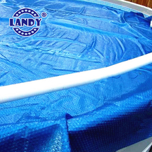 Suitable solar pool cover - hard plastic bubble swimming pool cover
