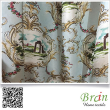 old style ready made austrian curtains paper printing window curtain