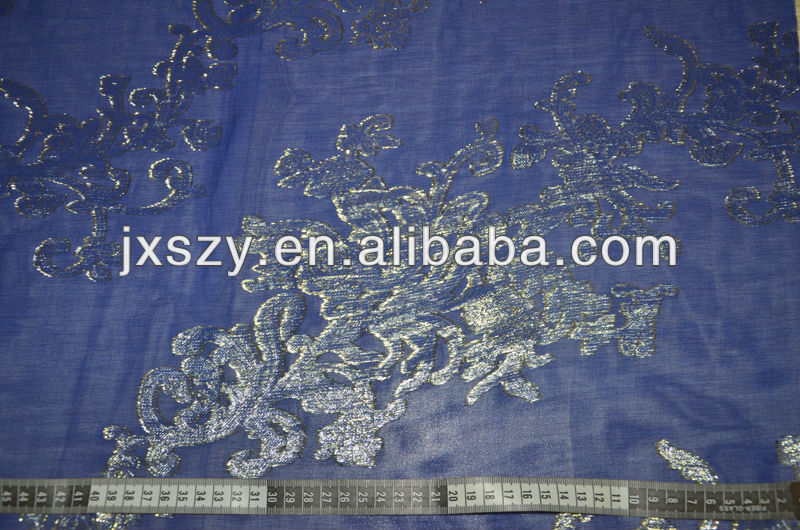 clip fabric lurex silk fabric