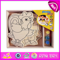 DIY wooden magnetic drawing board toy for kids,wooden toy magnetic drawing board toy for children,wooden drawing toy W03A070