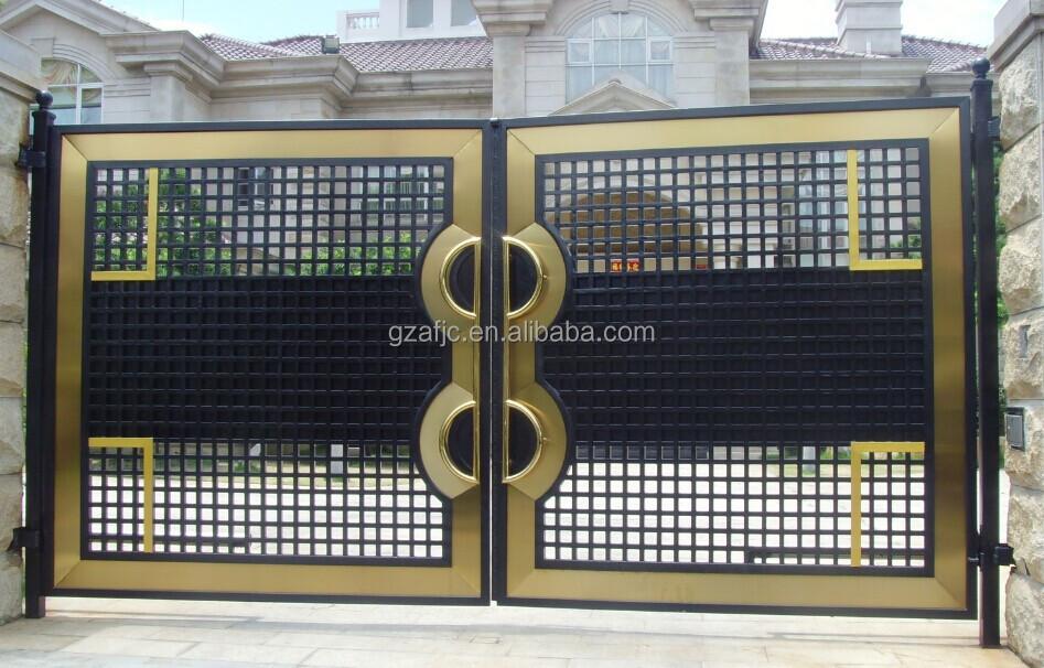 Great Forged Iron Metal Gate View Villas Gate Metal Gates Okm Product