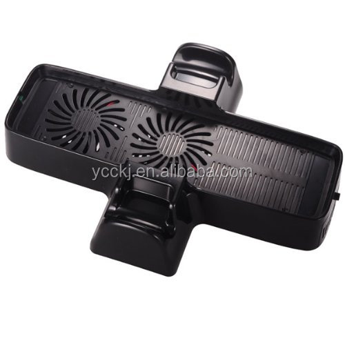 brand new wholesale price Dual Fan Cool Stand for XBOX360 Slim console video game accessories paypal accepted