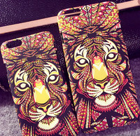 For iphone 6 case, Hot Sales Forest Animals Face Printing Mobile Cell Phone Plastic Case for apple iphone 6 iphone 6 plus