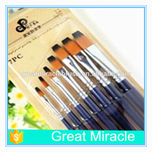 art supplies nylon wood pen artist brush 7 pcs per set