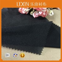 Fusible woven interlining for wool coats/Tricot interlining fabric/100% Polyester interlining