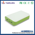 cell phone usb portable charger power bank green in white