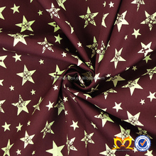 Wine Red Bottom Stars Print Custom Cotton Fabric Digital Printed Full Colours Cotton Fabric