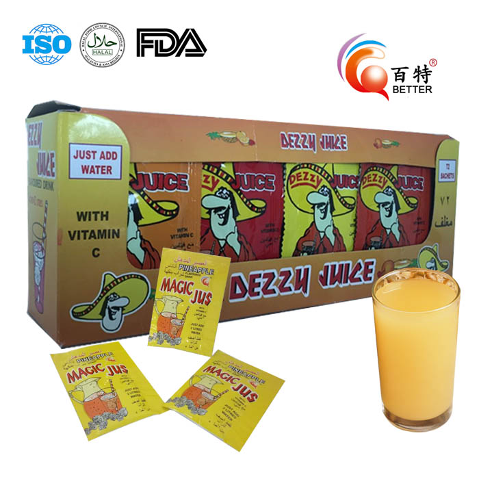 Super Fruit Juice Powder, Green Tea, Orange / Strawberry / Cola many Flavor
