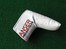Factory Customized white PU leather Golf Putter club head cover
