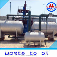 2015 NEW TECH used engine oil recycling machine waste tyre oil distillation plant