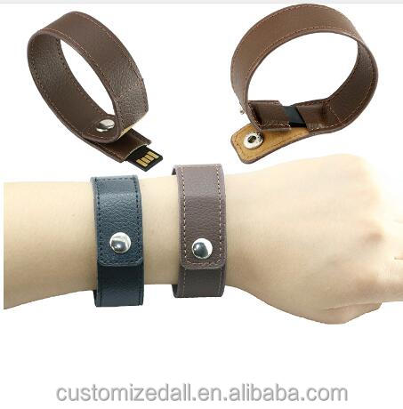 bracelet leather usb flash drive 64GB pen drive 32GB pendrive real capacity memory stick disk 8GB 16GB storage device