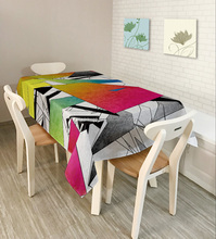 New Designs polyester table cloth with cheap price