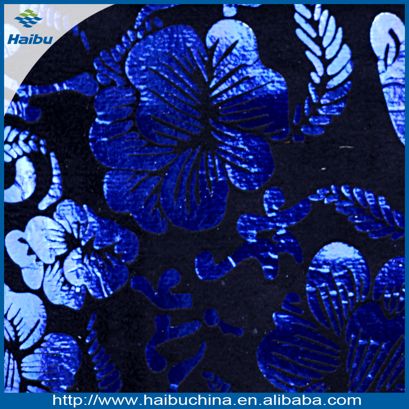 Flocking fabric material for shoes with flower pattern 2017