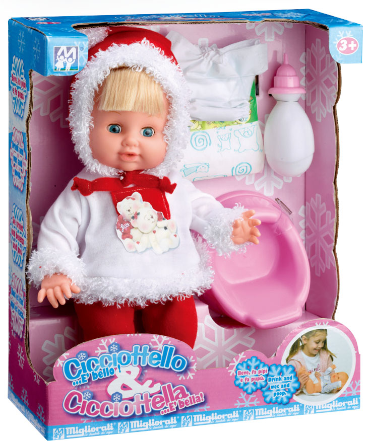 winter design funny crying ABS lovely soft mini baby doll with EN71