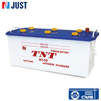 Top Selling 12V135Ah japan Standard Lead Acid automotive car battery