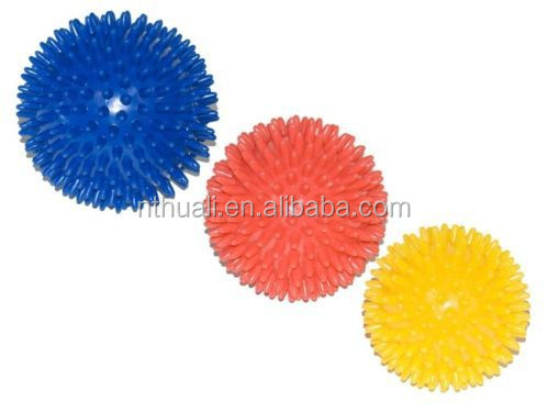 Brand new 7.5-9cm pvc hard gym ball mini massage ball