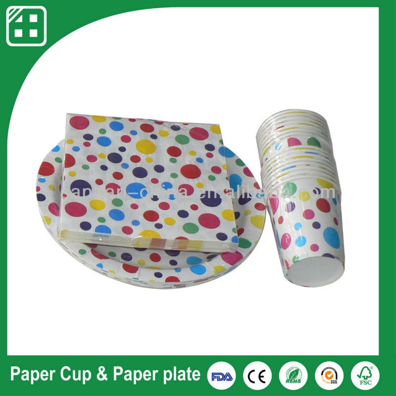 Customized paper napkins and plates