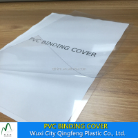 A3 A4 PVC Book Binding Cover Transparent Clear PVC Sheet