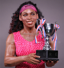 super realist wax figure of famous sports woman Serena Williams