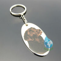 2013 new customized dog photo metal keychain