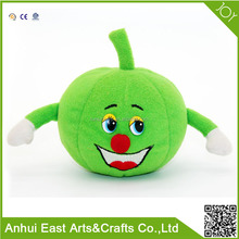 WHOLESALE PLUSH VEGETABLES AND FRUITS STUFFED PUMPKIN TOYS FOR DECORATION OR KIDS