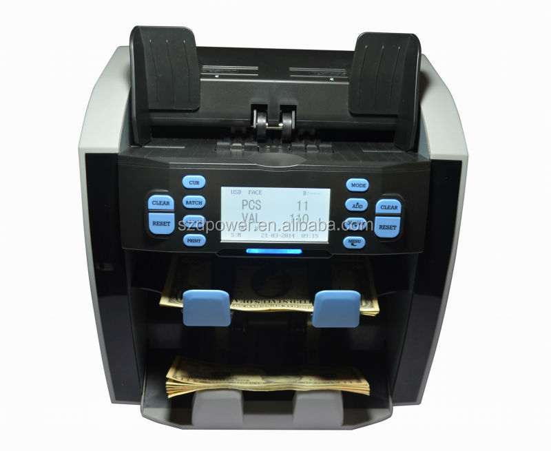 Pass EBC testing Professional Two Pocket Currency Sorter Money Detector Machine Banknote Counter